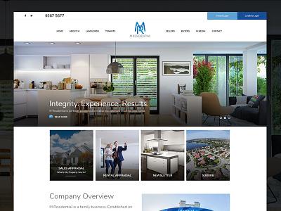 Minimalist Real Estate Web Redesign homes minimal clean modern real estate web design