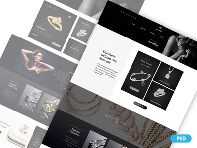 Day 1 - Free PSD - Jewelry Shop Web Design
