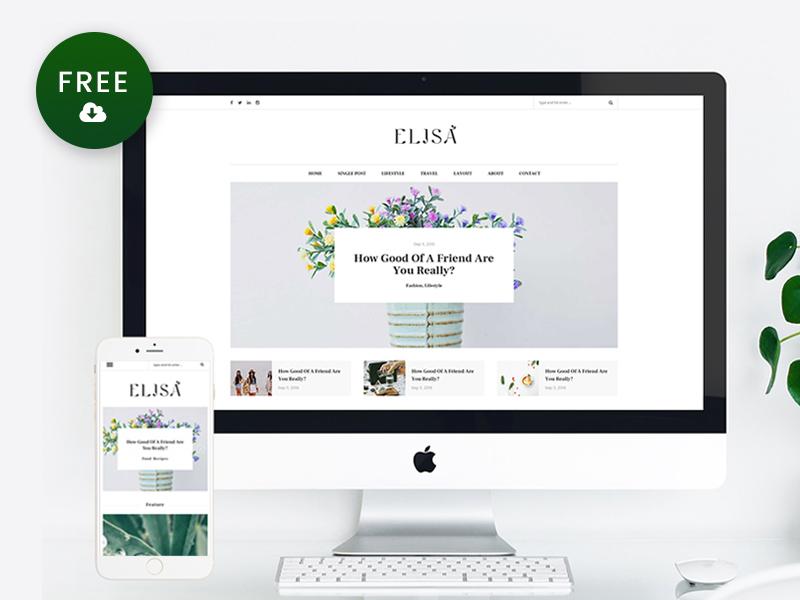 Freebie – Elisa WordPress Blog Theme