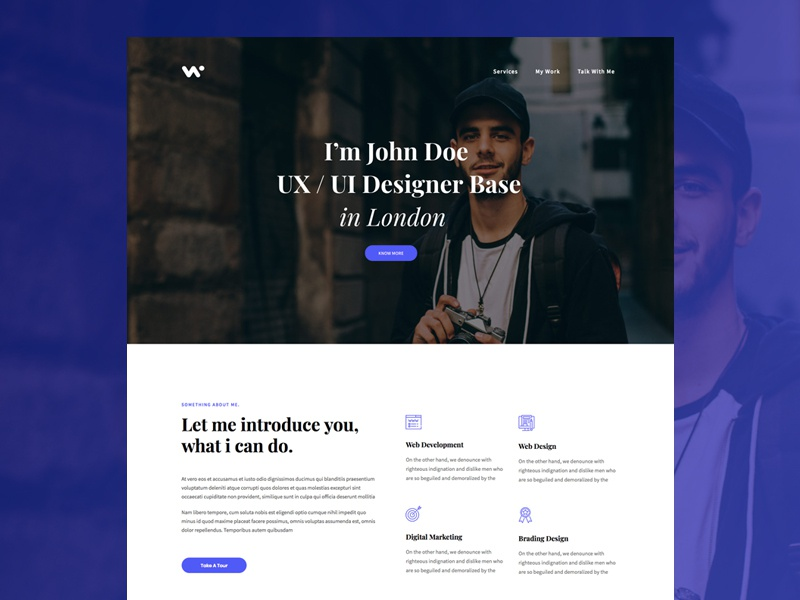OnePage Creative Designer's Web Portfolio portfolio web design onepage designer creative