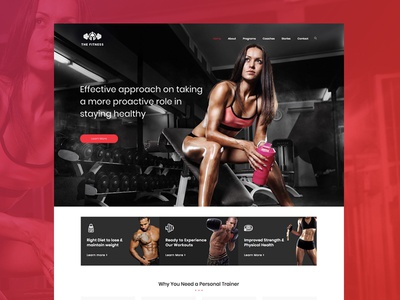 Gym & Fitness Coach Web Design