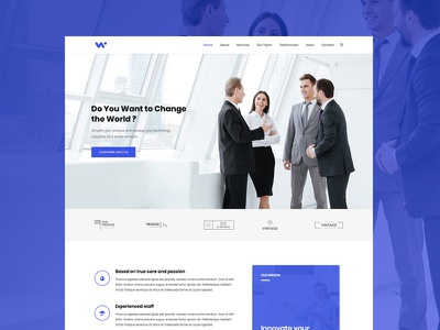 Modern Agency and Business Web Design corporate wordpress web design modern business