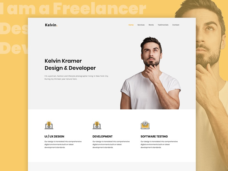 WordPress theme for Freelancers and Creative Agencies web designer web developer creative agency freelance freelancers wordpress wordpress themes
