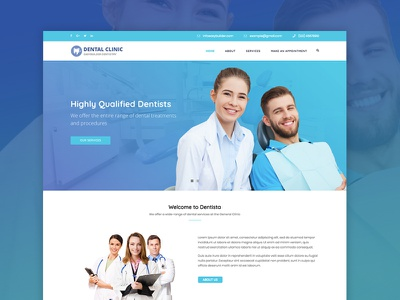 WordPress theme for Dentists, Doctors and Medical Personnel web design wordpress wordpress themes medical doctors dentists