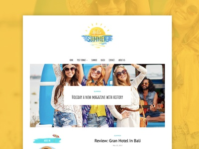 Summer Holiday - Creative Travel WordPress Blog Theme travel blog travel summer creative wordpress themes blog