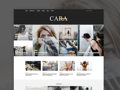 Cara - Magazine WordPress Theme wordpress themes magazine news