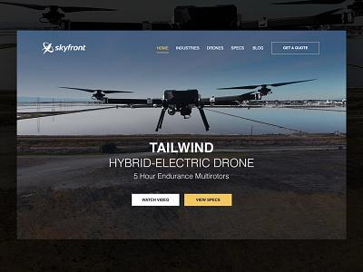 Drone Company Website ReDesign drone web design