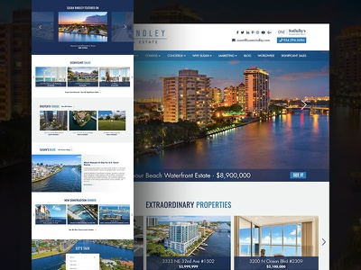 Real Estate Web Design Concept No. 1 real estate agent real estate webdesign web design