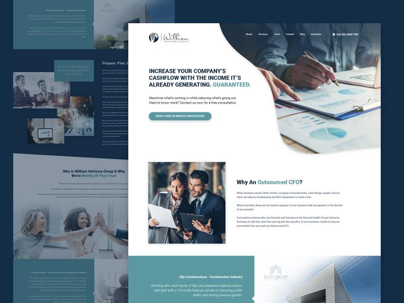 Landing Page Design landing page webdesign agency creative web design landing page design