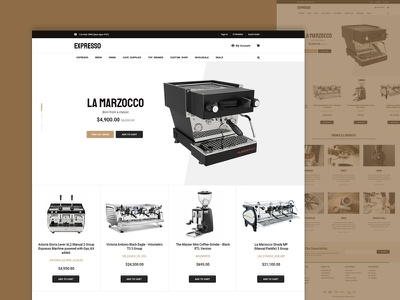 New Expresso Machines eCommerce Website Design ecommerce shop ecommerce business ecommerce design ecommerce webdesign web design