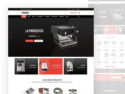 Expresso Machines eCommerce - Concept 2 web design webdesign ecommerce shop ecommerce design ecommerce business ecommerce