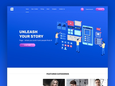 PageMall - App Builder Front-End Web Design landing page illustration ui ux uiux web design company front-end web development landing page design front-end front-end development design webdesign web design