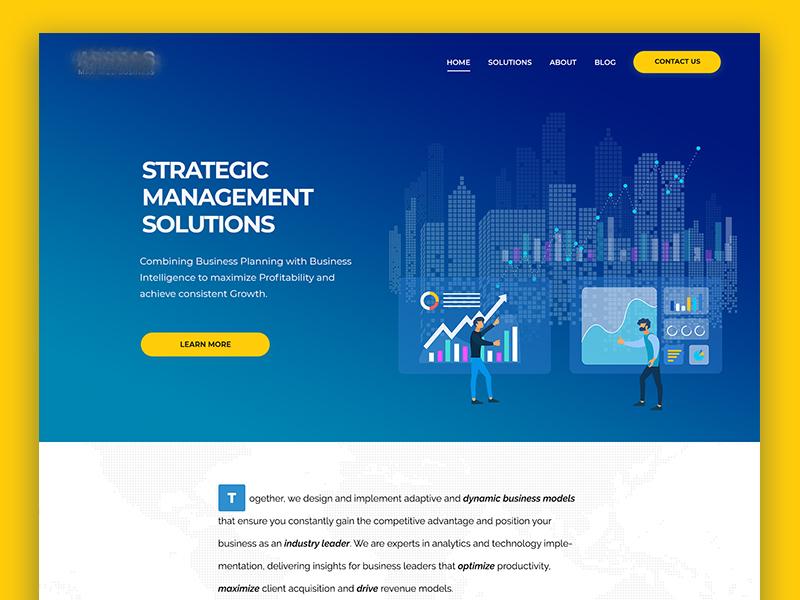 Finance & Business Management Web Design wordpress bootstrap front-end development front-end landing page illustration modern corporate agency design webdesign creative web design