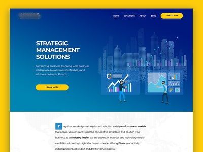 Finance & Business Management Web Design wordpress bootstrap front-end development front-end landing page illustration modern corporate agency design webdesign creative web design