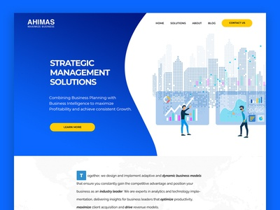 Finance & Business Management Web Design corporate web design finance website business website wordpress front-end front-end development illustration agency minimal design web design webdesign