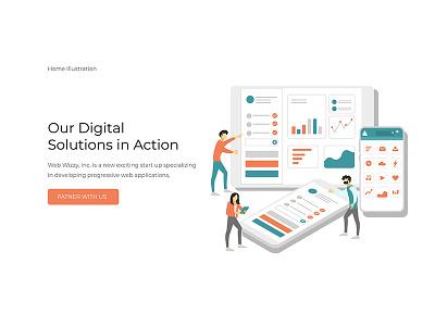 Illustration Design modern agency ui design illustration web design webdesign