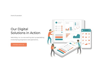 Illustration Design modern agency ui design illustration web design webdesign