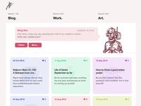 Portfolio blog concept