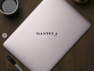DANIELA. MY NAME IS DANIELA/SAMER BRASIL, Sticker daniela my name is samerbrasil @samerbrasil design illustration sticker samer brasil