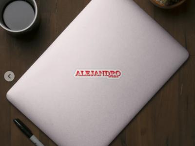 ALEJANDRO. MY NAME IS ALEJANDRO/SAMER BRASIL Sticker animation my name is samerbrasil @samerbrasil design illustration sticker samer brasil alejandro