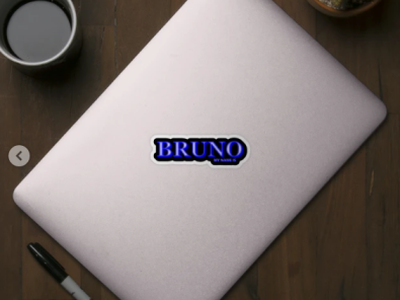 BRUNO. MY NAME IS BRUNO. SAMER BRASIL Sticker animation my name is samerbrasil @samerbrasil design illustration sticker samer brasil bruno