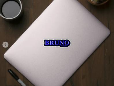 BRUNO. MY NAME IS BRUNO. SAMER BRASIL Sticker animation my name is samerbrasil @samerbrasil design illustration sticker samer brasil bruno