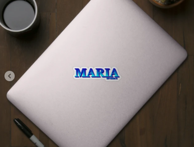 MARIA. MY NAME IS MARIA. SAMER BRASIL Sticker my name is samerbrasil @samerbrasil design illustration sticker samer brasil maria