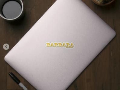 BARBARA. MY NAME IS BARBARA. SAMER BRASIL. Sticker animation my name is samerbrasil @samerbrasil design illustration sticker samer brasil barbara
