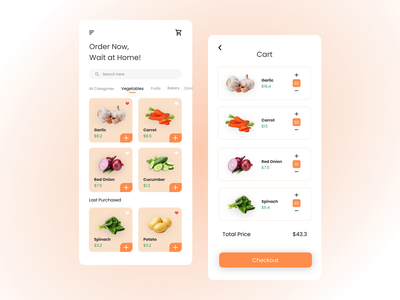 Market Online shopping cart shopping app marketplace uiuxdesign mobile app mobile design uxdesign uidesign