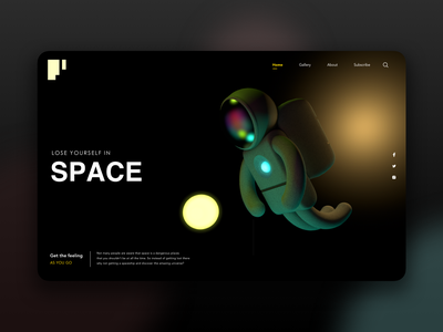 Lose Yourself! 3d cinema4d space graphic design webdesign web ux ui
