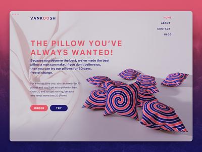 Vankoosh decoration home 3drender fashion pillow 3dart photoshop cinema4d 3d branding simple funny web design web ux ui graphic design