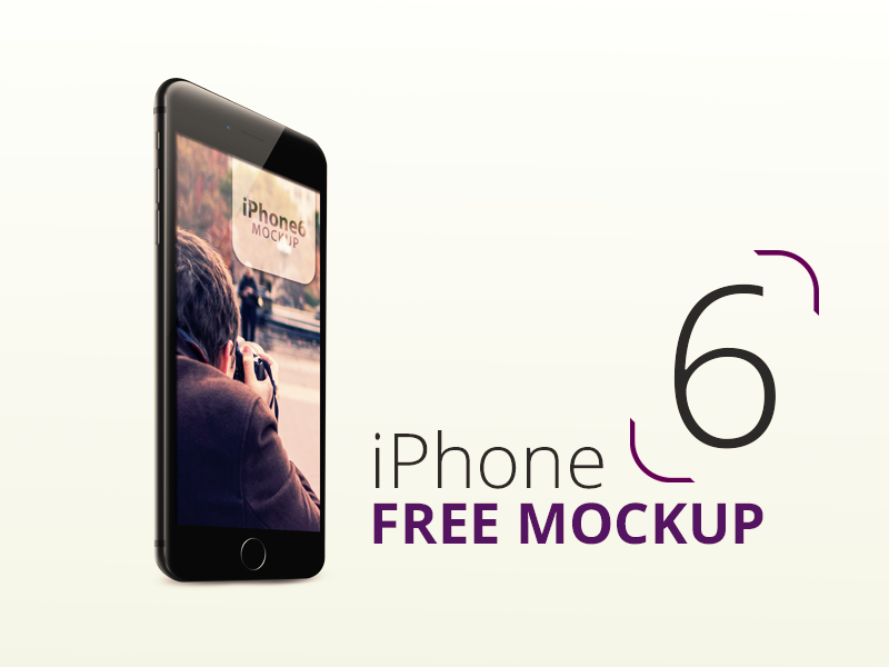 iPhone 6 (Free Mockup) iphone6 mockup free psd apple app black download mobile