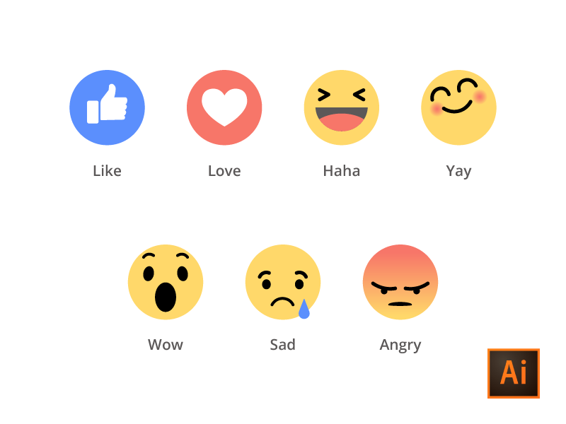 Facebook Emoji Ai-Freebies by Ahmed Mu - Dribbble