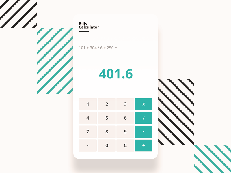 bills calculator by ahmed mohaisen dribbble dribbble