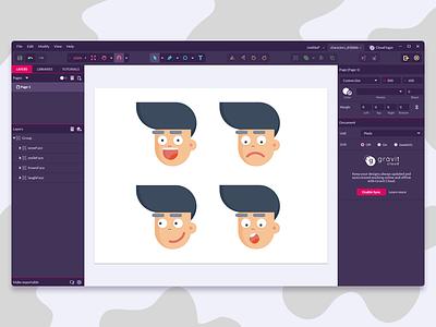 Testing Gravit Designer boy gravit web minimal design emotion smile emoji cartoon graphic design