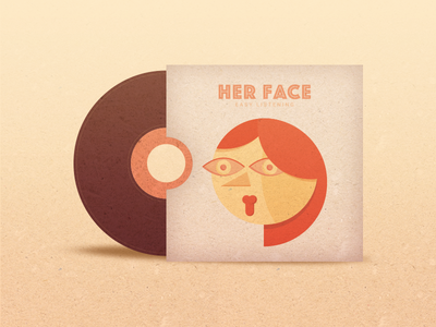 Her Face woman girl face album cover music vector graphic design illustration