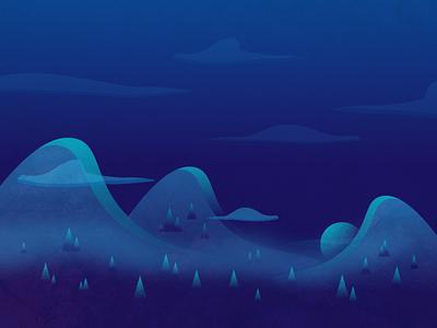 Quiet Night! landscape design vector illustration