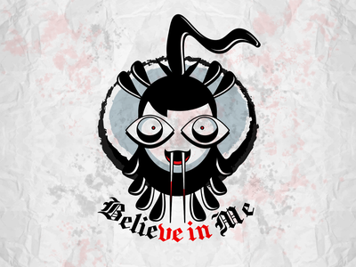 Believe in Me! halloween vampire cartoon funny fun branding graphic design design logo vector illustration