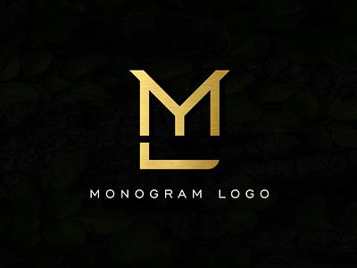 Monogram Logo Design mordern logo eyecatchy unique logo concept simple logodesign creative logo designer luxary creative design logo mlb minimalist monogram logo monogram