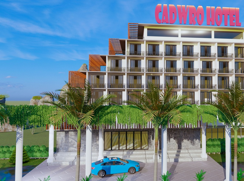 Hotel Design branding exterior 3d rendering 3d visualization 3d modeling cadwro architecture architecture cadwro