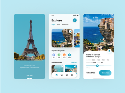 Travel App - Mobile Design figma concept design travel app tourism designs adobexd traveling concept mobile app clean ui design ui ux design ui design