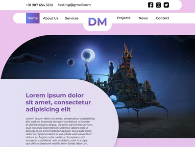 Full Page Web Layout photoshop template vector logo web photoshop illustrator graphic design website webdesign design
