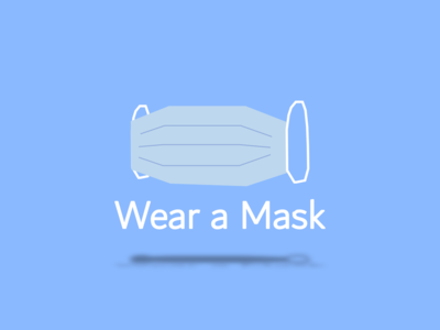 Wear a Mask vector illustration design virus coronavirus corona mask