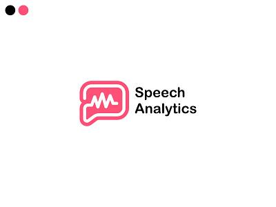 speech analytics logo concept speech bubble branding app minimal logo design