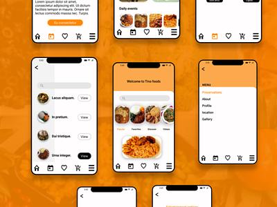 Tino Restaurant App mobile ux ui app