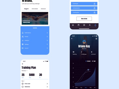 SwimPly smartwatch swimming swimmer fitness app mobile design mobile app ios mobile minimalism webdesign figma design ux 2021 ui