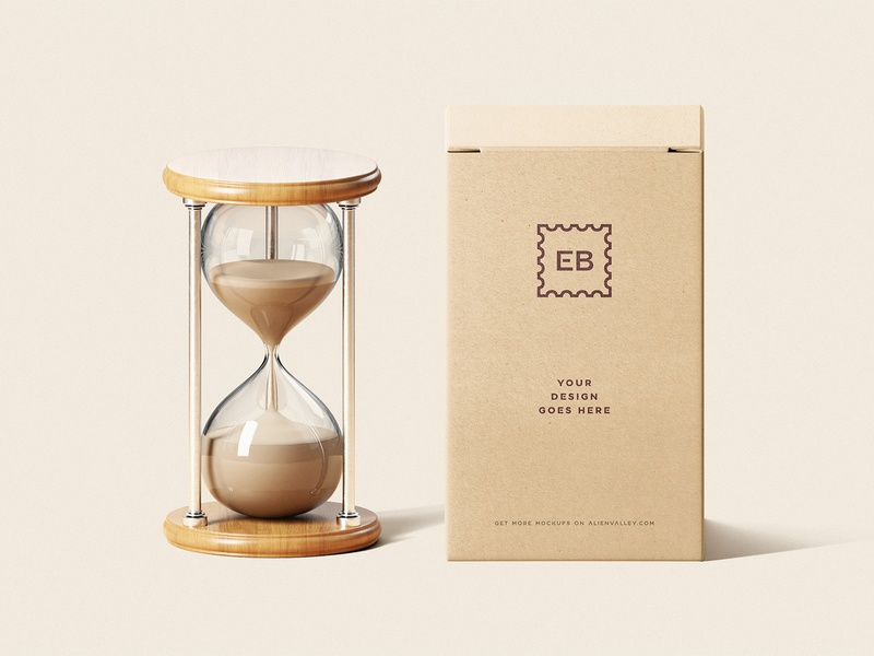 Freebie: Hourglass With Box Mockup box design packaging packaging mockup freebies free psd free psd mockups free psd mockup free mockups free mockup psd free mockup free stationery psd mock-up mock up mockup logo identity freebie design