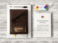 Freebie: Business Card and Book Mockup 2