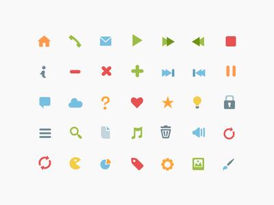 Freebie: Simple Flat Icons