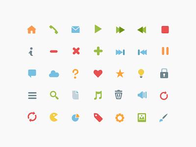 Freebie: Simple Flat Icons icons flat colorful freebie freebies